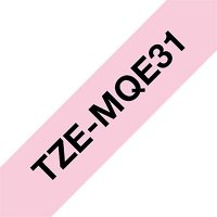 Fita para rotulador Brother TZe-MQE31 rosa pastel escrita preta plástica laminada Brother 3