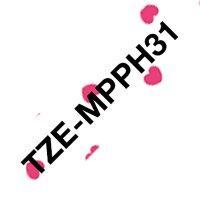 Fita para rotulador 12mmx4m coração TZE-MPPH31 Brother 3