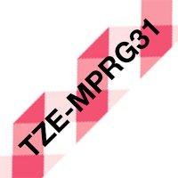 Fita para rotulador 12mmx4m xadrez TZE-MPRG31 Brother 3
