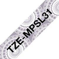 Fita para rotulador 12mmx4m prata renda TZE-MPSL31 Brother 3