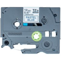 Fita para rotulador 12mmx4m azul pastel/pt TZE-MQ531 Brother 2