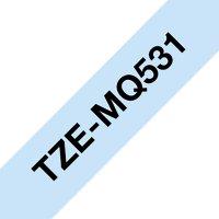 Fita para rotulador 12mmx4m azul pastel/pt TZE-MQ531 Brother 3