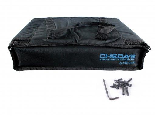 Bag Case 2U, barra dupla de alumínio, revestido com espuma e nylon preto   Solid Sound   BAG2UTPT