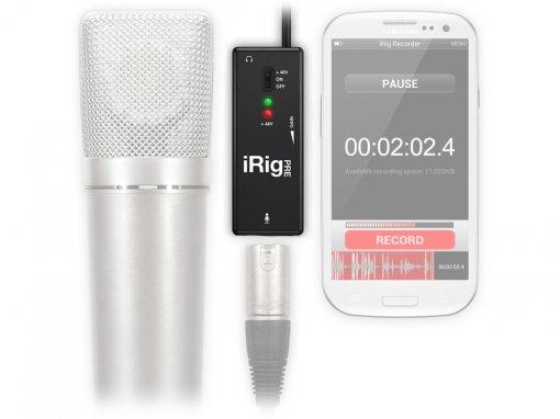 Pré-amplificador e interface de Microfone para uso com Smartphone   Ik Multimedia   Irig Pre