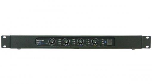 Amplificador digital com 4 canais de 350W em 2Ω, 4Ω e 8Ω | Next Pro | NA 4350
