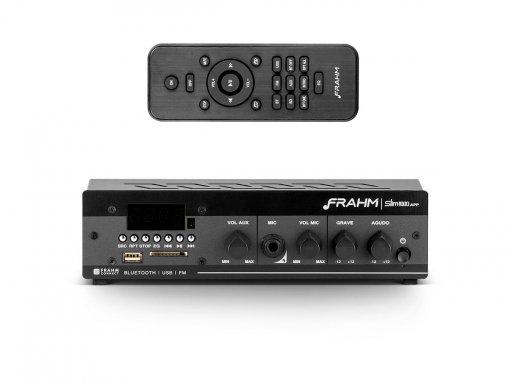 Amplificador e receiver para som ambiente 40W RMS | SLIM 1000 APP G2 | Frahm