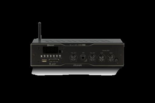 Amplificador e receiver para som ambiente 60W (30W + 30W) | SLIM 1500 APP | Frahm