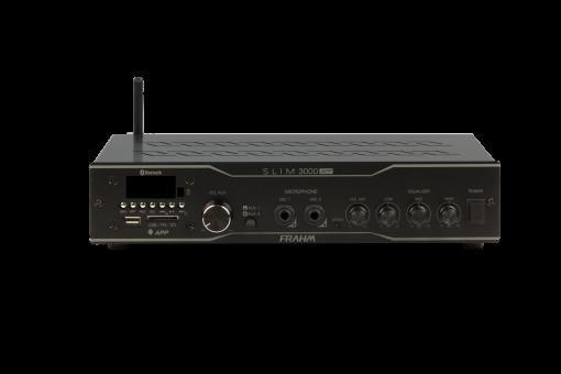 Amplificador e receiver para som ambiente com 200W RMS em 4 Ohms | SLIM 3000 APP | Frahm