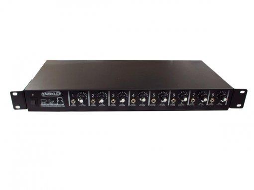 Amplificador para fone de ouvido com 8 canais via P2 Estéreo | Bivolt, Rack 19