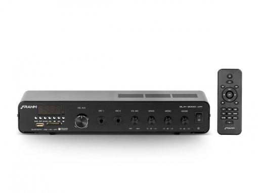 Amplificador som ambiente com 120W | Bluetooth, USB, FM e Microfone | Frahm | SLIM 2000 APP G2
