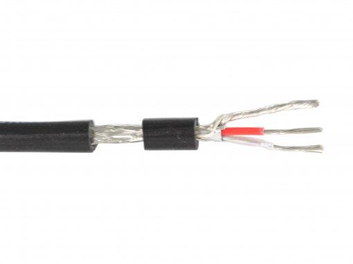 Cabo de microfone estéreo com 2 vias de 0,30mm e malha de cobre | Rolo com 100m | Tecniforte | TEC30