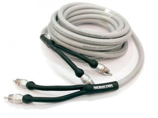 Cabo RCA duplo com 5 metros para subwoofer automotivo | Monster Cable | MPC-I402-SW-5M