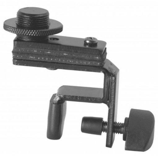 Clamp compacto de microfone, bateria e percussão   Feito em aço com rosca 5/8   On-Stage   DM01