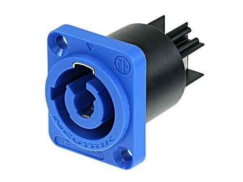 Conector PowerCON de painel Azul para entrada de energia | Neutrik | NAC3MPA-1
