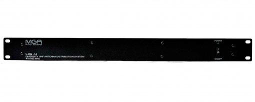 Distribuidor ativo para até 4 receptores e 1 par de antenas de 470 - 952 MHz | MGA Pro Audio | US-4
