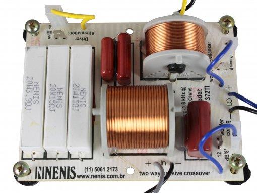 Divisor de Frequência 2 vias Passivo | 1 ou 2 Alto-falantes + 1 Driver Titanium 370W RMS | DF372TI | Nenis
