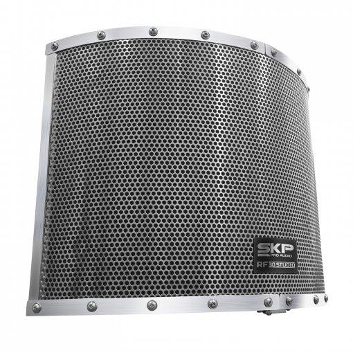 Filtro de reflexão para vocal   Ideal para espaços sem tratamento acústico   SKP Pro Áudio   RF-30 STUDIO