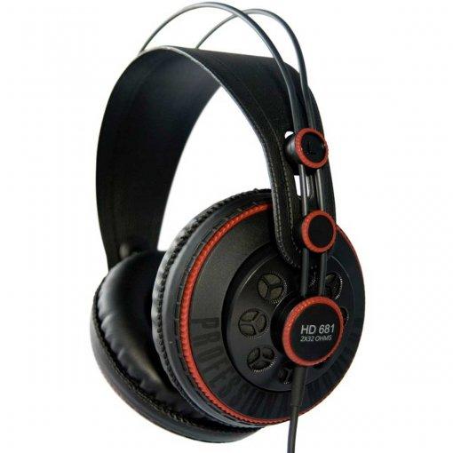 Fone de ouvido Profissional Over-ear Semi Aberto com Cabo 2m | Superlux | HD681