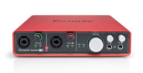 Interface de áudio USB 2.0 com 2 Pré-amplificadores de microfone Focusrite | Scarlett 6i6 1st generation