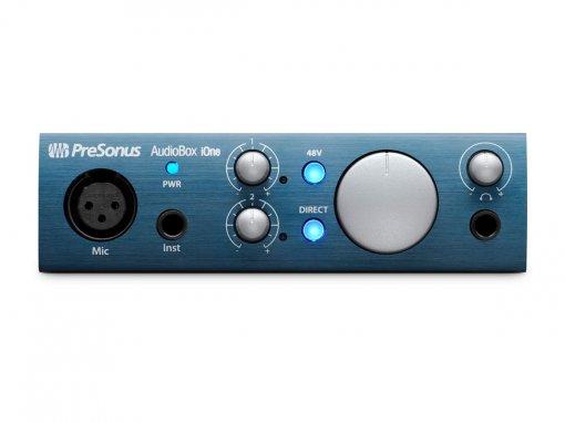 Interface de áudio USB 2.0 para gravação em PC, Mac, Ipad e 2 canais | Presonus | AudioBox iOne
