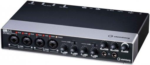 Interface de áudio USB 6x4 com 4x D-PREs | Suporte de 24 bits | 192 kHz | MIDI | Steinberg | UR44