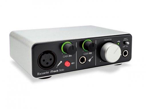 Interface de áudio USB com 2 canais para gravação em iPad, Mac ou PC | Focusrite | iTrack Solo