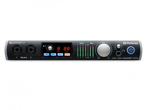 Interface Thunderbolt com 4 pré-ampli expansível até 18 entradas digitais | Presonus | Quantum 2