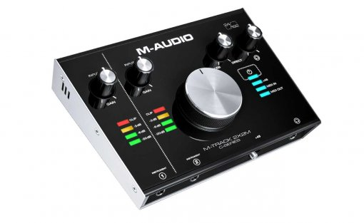 Interface USB 2 canais | In/Out MIDI | 24 bits / 192 KHz | USB 2.0, USB-C | M-Audio | M-TRACK2X2M