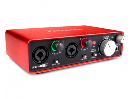 Interface USB 2.0, 2 pré-amplificadores / 2 saídas e 192khz | Focusrite | Scarlett 2i2 2nd Geração
