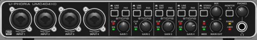 Interface USB 4 entradas e 4 saídas   Pré-amplificador MIDAS   Behringer   U-CONTROL UMC404HD