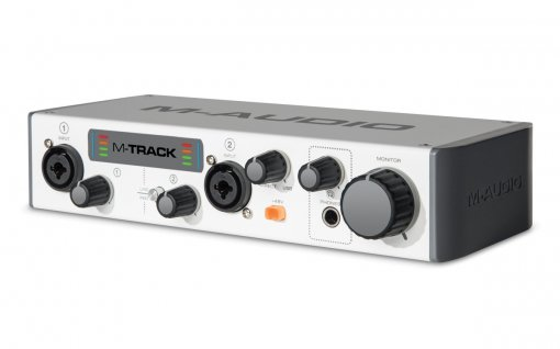 Interface USB, 2 canais de entrada e 2 saídas balanceadas P10 | 24 bit/48 KHz | M-Audio | M-TRACK