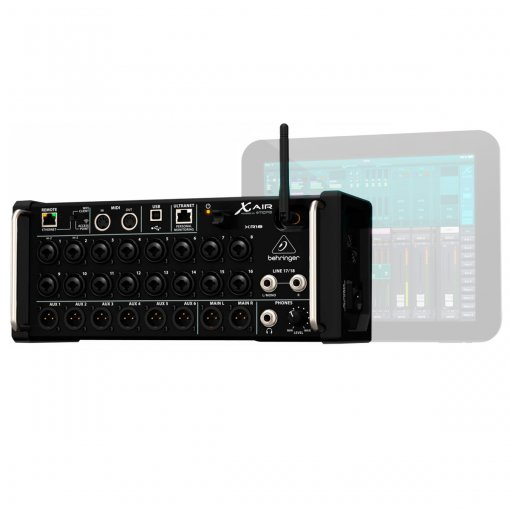 Mesa digital com 18 canais, 6 AUX, controle via Tablet Ipad e Android | Behringer | Xair XR18