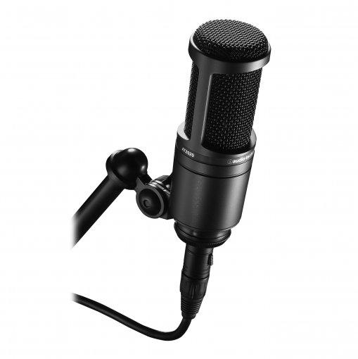 Microfone condensador cardioide | Exclusivo diafragma de 16 mm | AT2020 | audio-technica