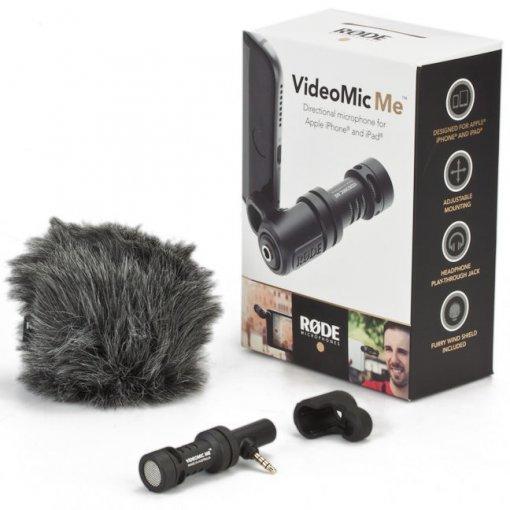 Microfone direcional para Iphone e Ipad de conexão P2 TRRS   RODE   VideoMic Me