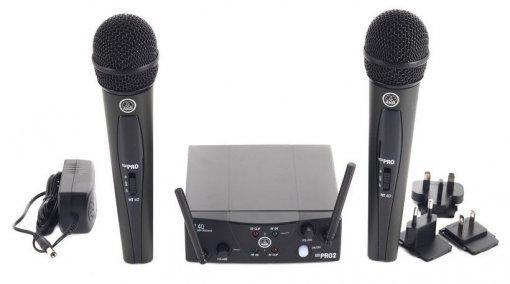 Microfone sem fio duplo, cardioide e banda US25A - US25C   WMS40 Mini Dual Vocal Set   AKG