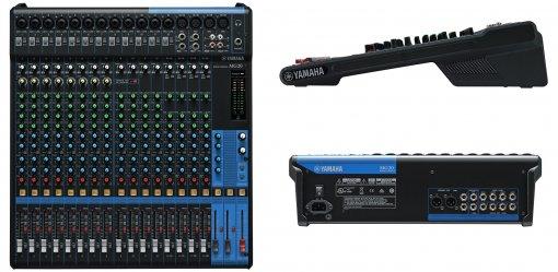 Mesa de som analógica com 20 canais | 12 mono / mic. (Max. 16) + 4 estéreo | MG20 | Yamaha
