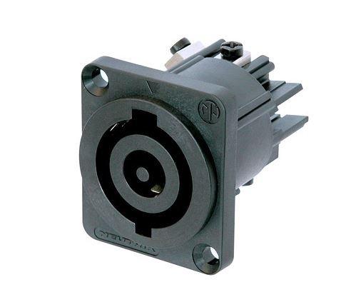 Powercon 3 pólos  de painel para até 32A e até 250V | Neutrik | NAC3MP-HC