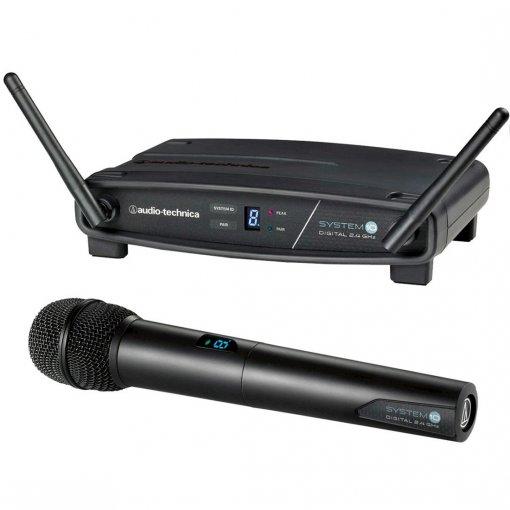 Sistema de microfone sem fio System 10   Microfone transmissor de mão   2,4 GHz   ATW-1102   audio-technica