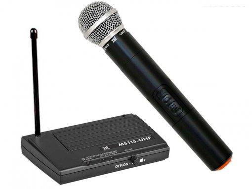 Sistema de microfone sem fio UHF | Microfone transmissor de Mão | TSI | MS115-UHF