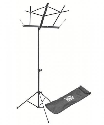 Suporte de partitura em aço, compacto preto e com bolsa | On-Stage | SM7122BB