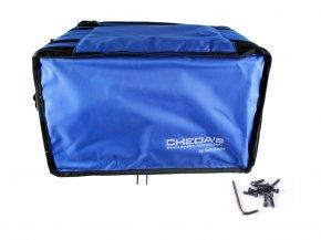 Imagem - Bag Case 6U, barra dupla de alumínio, revestido com espuma e nylon azul | Solid Sound | BAG6UTAZ - BAG6UTAZ
