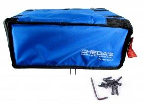 Imagem - Bag Case 4U, barra dupla, revestido com espuma e nylon azul | Solid Sound | BAG4UTAZ - BAG4UTAZ