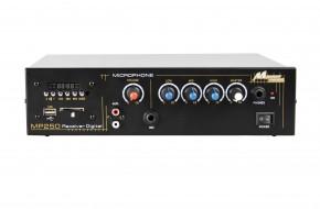 Imagem - Amplificador com receiver digital de FM e conexão para USB, cartão SD ou auxiliar (MP3 / WMA)| MP250USB | Mega Power Amplificadores - MP250USB