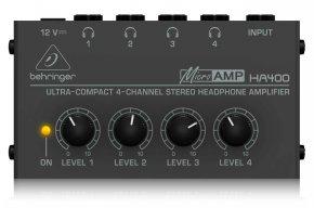 Imagem - Amplificador de fone com 4 canais | 1 Entrada e 4 Saídas | Behringer HA400 - HA400