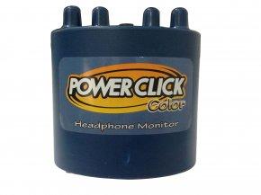 Imagem - Amplificador de fone mixer 2 canais mono | Cor Azul | Bateria 9v / Fonte | Power Click | COLOR BLUE - BLUE