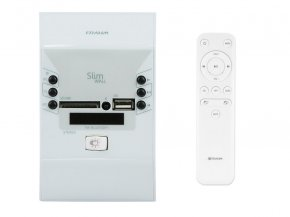 Imagem - Amplificador de parede som ambiente de 2x 30w | Bluetooth USB FM Interruptor | Frahm | SLIM WALL BR - SLIMWALLBR
