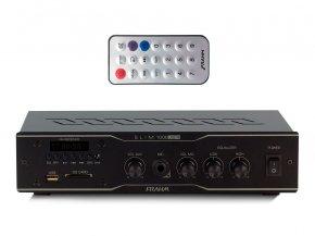 Imagem - Amplificador de som ambiente de 2 canais, bivolt e 30W | USB, FM e Mic | Frahm | SLIM 1000 USB/FM - SLIM1000USBFM