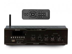 Imagem - Amplificador de som ambiente de 2 canais de 30W | Bluetooth, USB, FM e Mic | Frahm | SLIM 1500 APP - SLIM1500APP