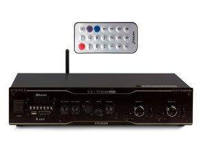 Imagem - Amplificador de som ambiente de 2x de 300 watts | Bluetooth, USB, FM e Mic | Frahm | SLIM 5000 APP - SLIM5000APP
