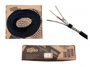 Imagem - Cabo para microfone balanceado de 2x0,30mm | Rolo 100 metros | Santo Angelo | X30 - X30